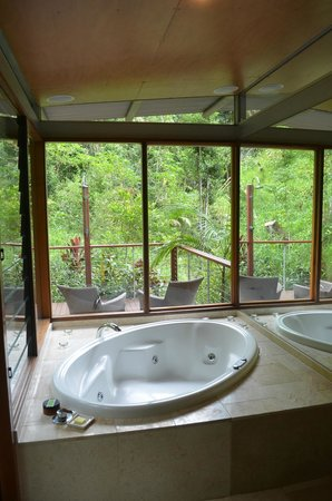 Crystal Creek Rainforest Retreat: The massive spa