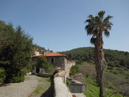 Kalloni, Grecia: Moni Myrsiniotissa's , near Dafia village