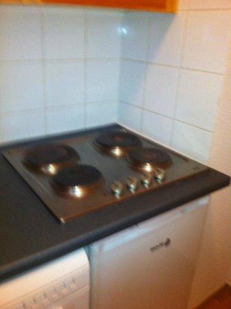 Les Chalets de Florence: Plaque de cuisson / coin cuisine