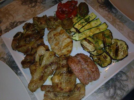 Talismano: grigliata per due di verdure e carne