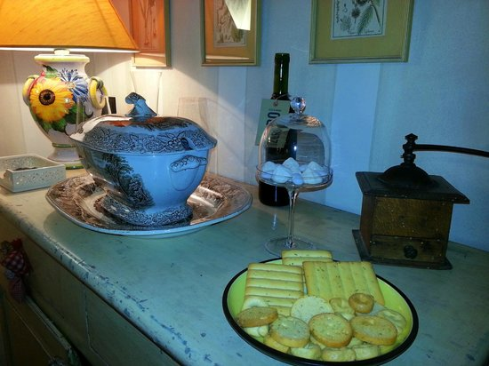 Casa Moricciani: delicious treats on arrival