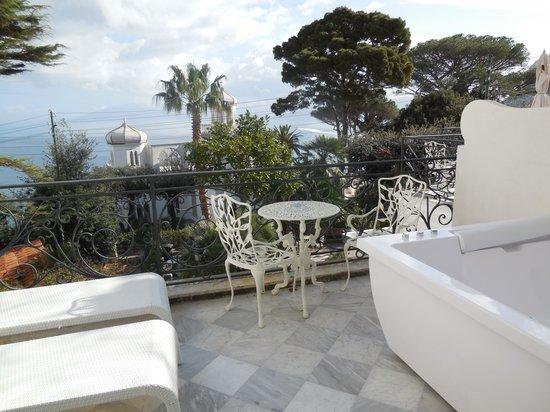 Luxury Villa Excelsior Parco: Ausblick von der Suite