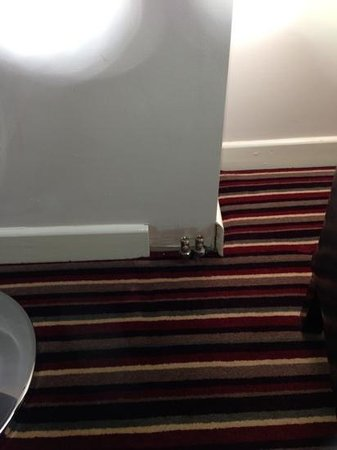 """The Collection Hotel Birmingham: lovely pipe work hanging out of the wall in your """"suite"""""""