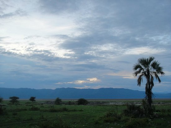 Maramboi Tented Camp: View from room at dusk