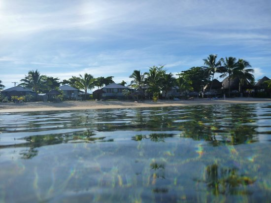 Savaii Lagoon Resort: View from lagoon.