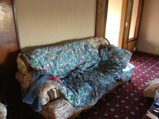 Mountain Trail Lodge: uno dei letti era questo divano
