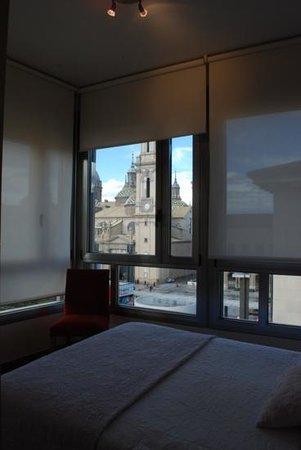 Apartamentos Sabinas El Pilar: Vista desde habitación del atico