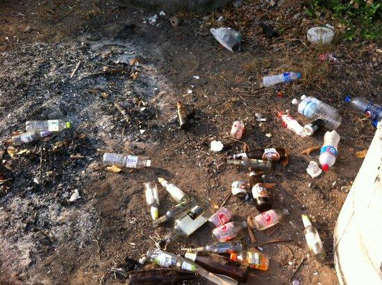 Sea Sand Sun Resort: Trash burning 20 meters from the pool