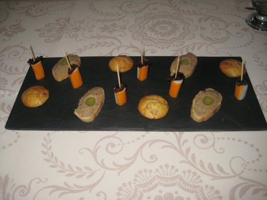 Le clos des Berengeries : Amuse bouches at the start of a memorable meal