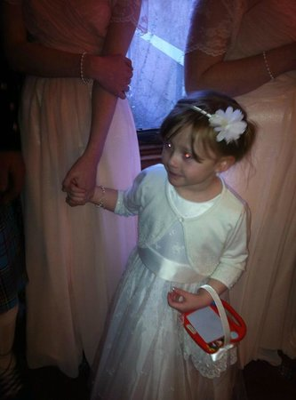Argyll Hotel: My little flower girl enjoyed the party