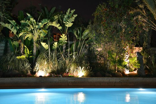Hotel Timoulay & Spa Agadir: Timoulay pool at night..