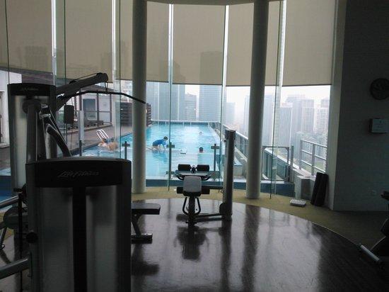 Somerset Ampang Kuala Lumpur: Pool view from rooftop gym