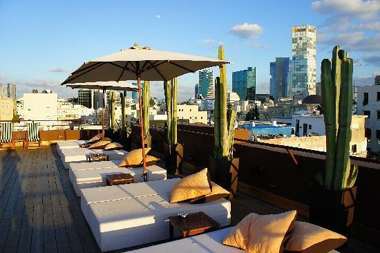 Brown TLV Urban Hotel: Rooftop terrace