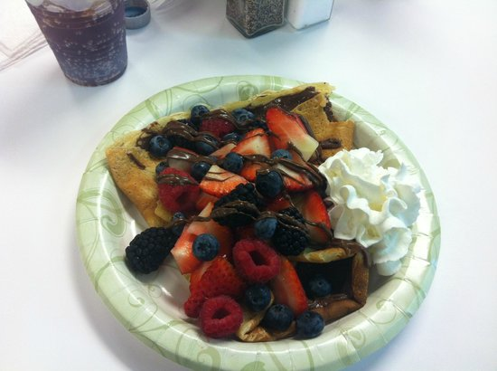 Sunshine Crepes: Mixed Berry with Nuttella Crepe