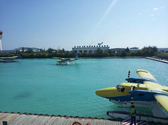 Kuramathi Island Resort: Airport at Male before boarding the sea plane