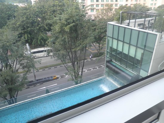 Park Regis Singapore: View from a front facing room, Clarke Quay in the background.