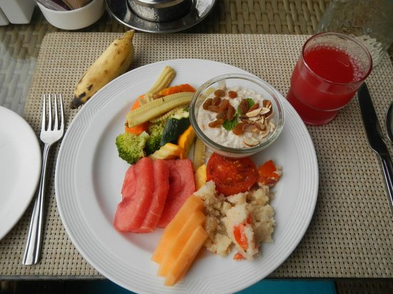Hotel Royal Orchid : My breakfast.  Healthy, repeated every day