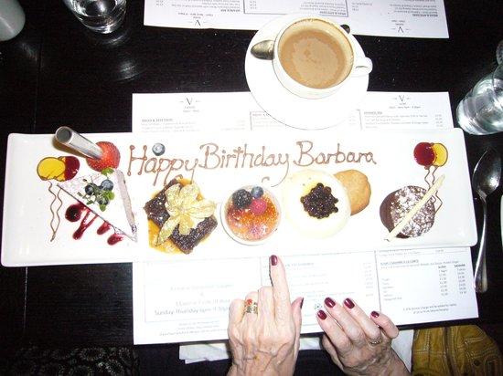 V-Cafe and Sushi Bar: Birthday platter