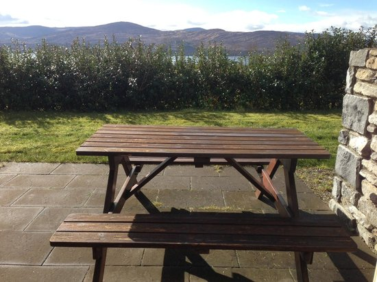 Ring of Kerry Golf Club: the view from the picnic bench in front of the house