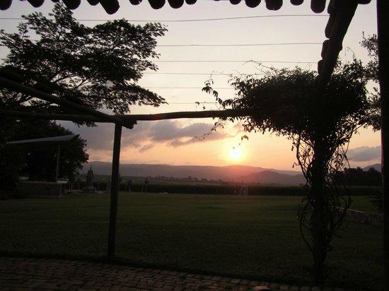 Malandela's Guest House: Sunset vanaf het restaurant
