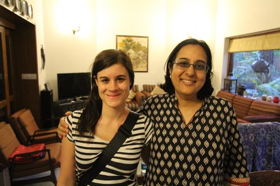 Saubhag Bed and Breakfast: Meera and my wife at wonderful Saubhag B&B