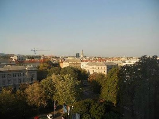 The Westin Zagreb: view from our hotel