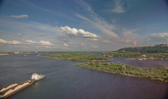 Nizhny Novgorod, Rusia: A view on Bor bank