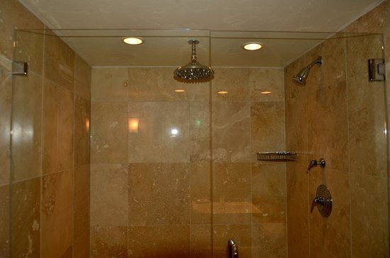 The Lodge at Jackson Hole: The massive shower