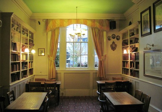"Great Expectations Hotel & Bar: the ""reading room"" - part of the bar/dining/breakfast area"