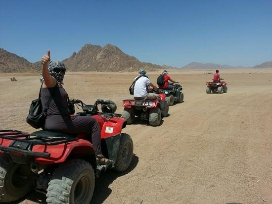 Best Egypt Shore Excursions: quad racing in the desert <3