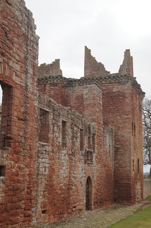 Edzell Castle: The main entrance to the castle