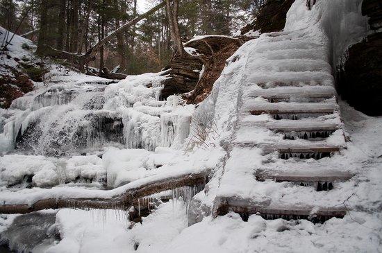 Benton, PA: Frozen steps