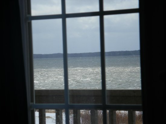 Whispering Waves Cottages: View from the kitchen table of cottage #2
