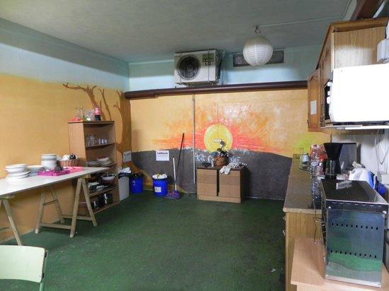 Funky Granada: Common Kitchen - Basement Floor