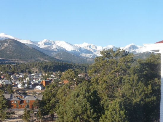 Stanley Hotel: View southwest from our Room 329