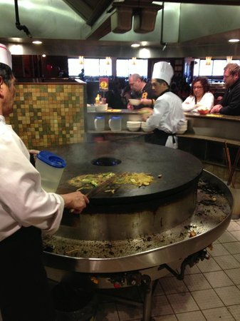 Genghis Khan Mongolian Grill: HUGE cooking stone