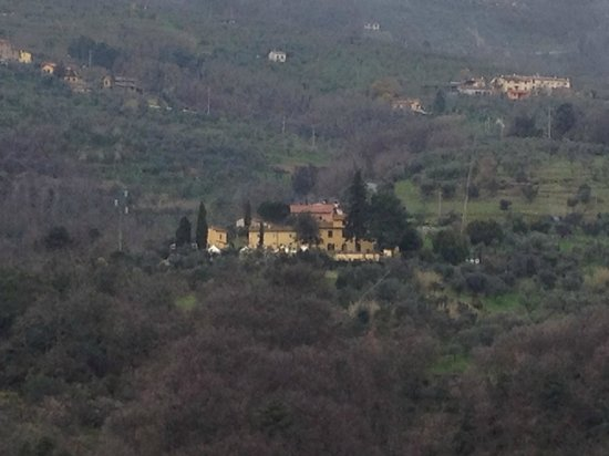 Villa Bracali: The hotel from a hilltop across the way