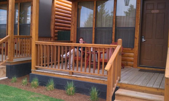 Rustic Inn Creekside Resort and Spa at Jackson Hole: Sitting on the front porch of our room