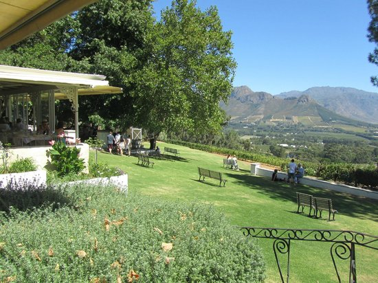 La Petite Ferme: View of the garden from the verandah