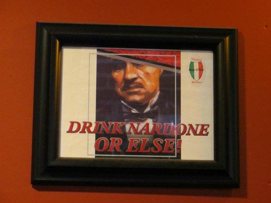 Montalcino Ristorante Italiano: Nardone is their family winery
