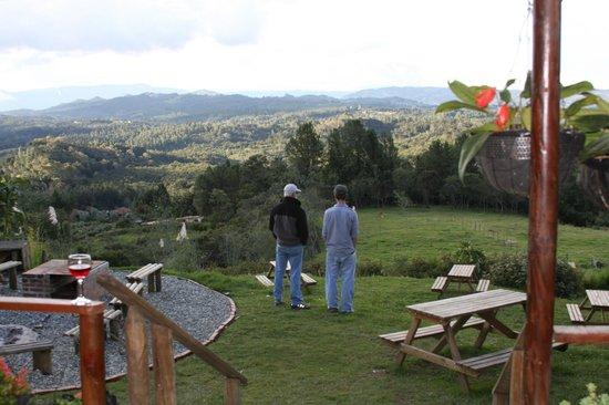La Montana Magica: View overlooking gardens