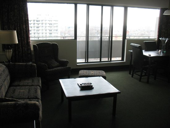 The Business Inn & Suites: The living area, with attached dining space/balcony