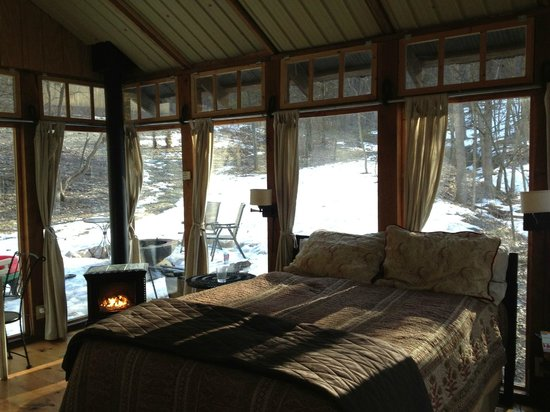 Candlewood Cabins: view from inside the room