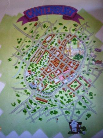 Kipps: Canterbury wall map all'ostello