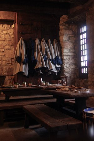 Old Fort Niagara: Room used by the soldiers