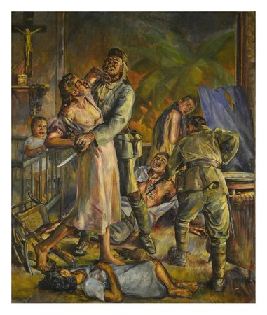 National Museum: Rape and Massacre in Ermita (the arrival of Japanese) Diosdado M. Lorenzo (1947)