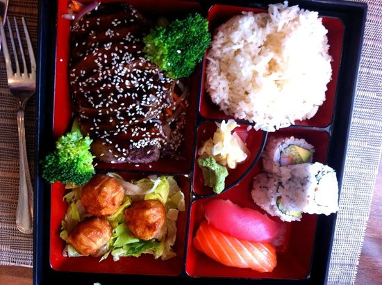 Meadow Asian Cuisine: Pretty bento box.