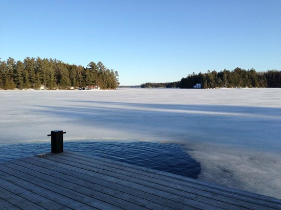 JW Marriott The Rosseau Muskoka Resort & Spa: Favorite spot from the trip.. down at the dock by the calm and quiet lake