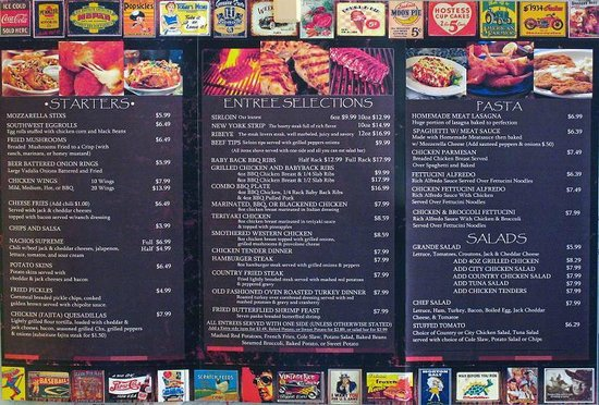 "Henry's Casual Cafe: The ""New"" Menu - (inside)"