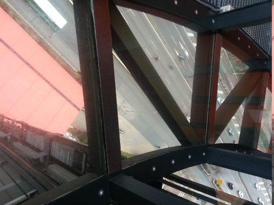 Silken Puerta America: A View from the Top of the Hotel ( Glass Floor ;-) )